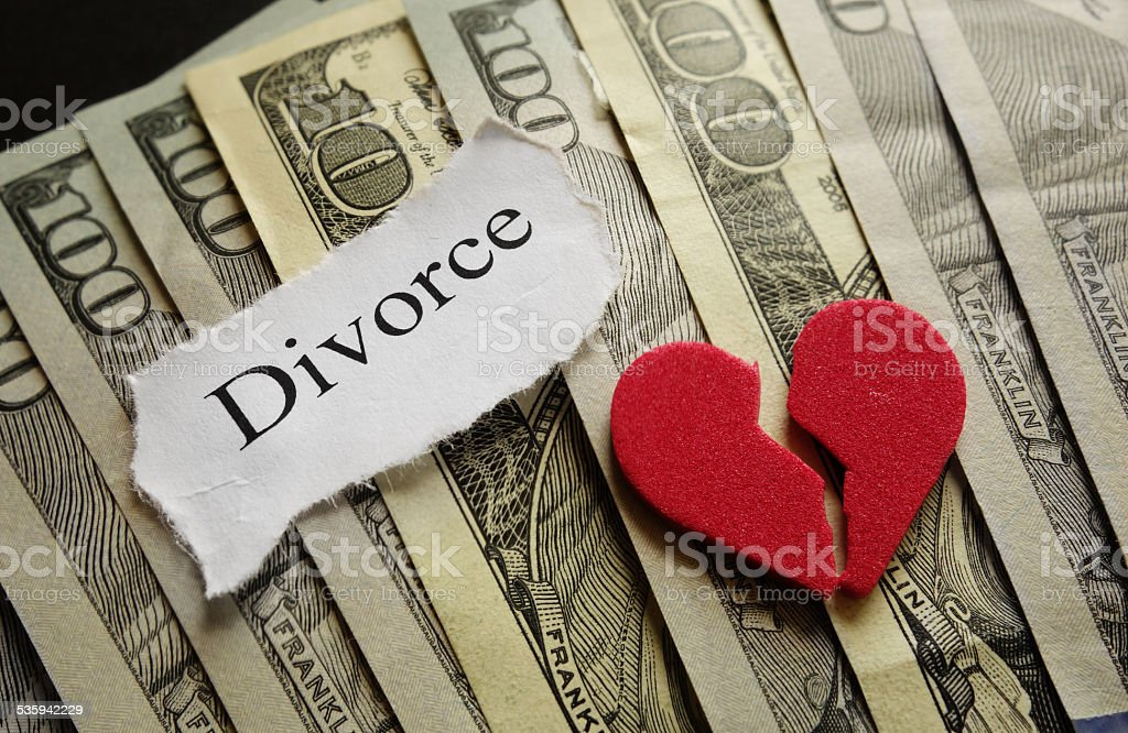 Heart and Divorce stock photo
