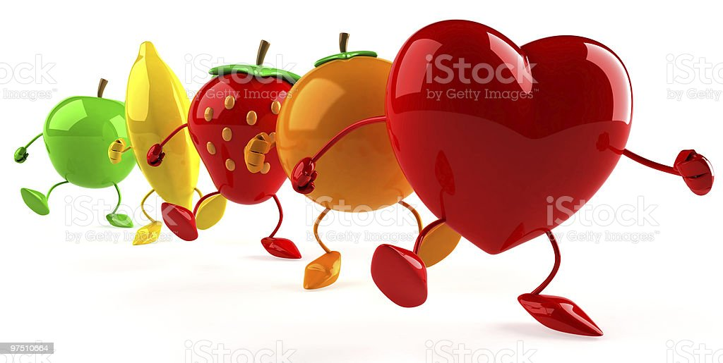 Heart and fruits royalty-free stock photo