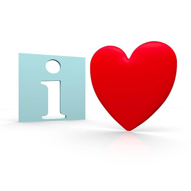 Herz und info-Zeichen – Foto