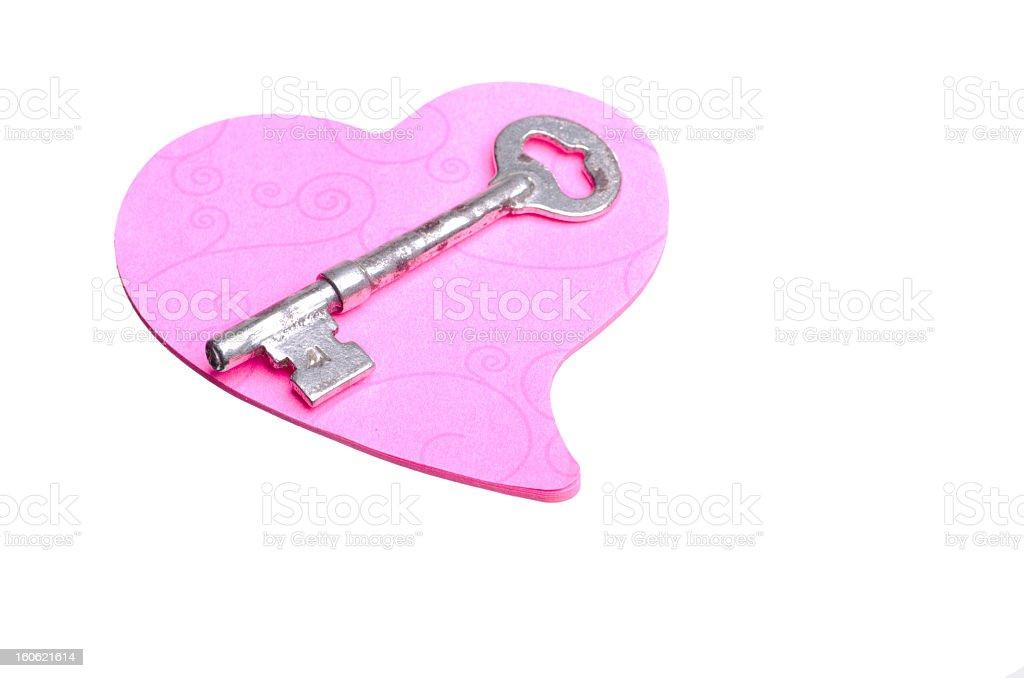 Heart and Key royalty-free stock photo