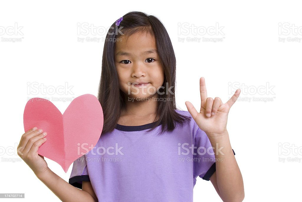 Heart and Love Sign stock photo