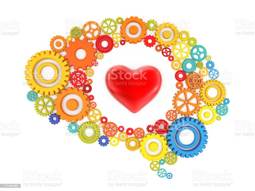 Heart and mind royalty-free stock photo