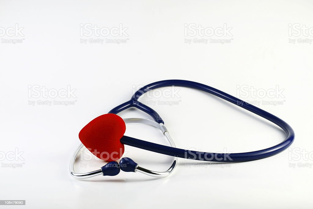 Heart and Stethoscope royalty-free stock photo