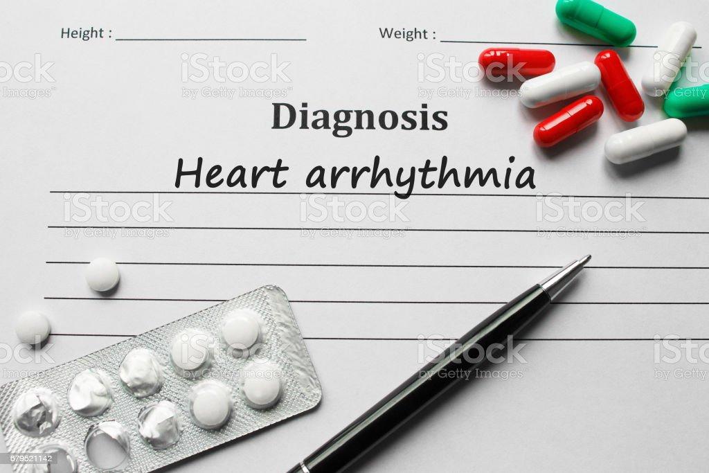 Heart arrhythmia on the diagnosis list, medical concept royalty-free stock photo