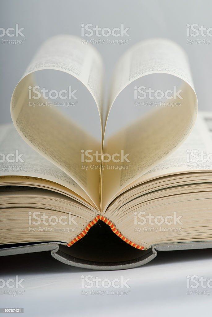 heart as book royalty-free stock photo