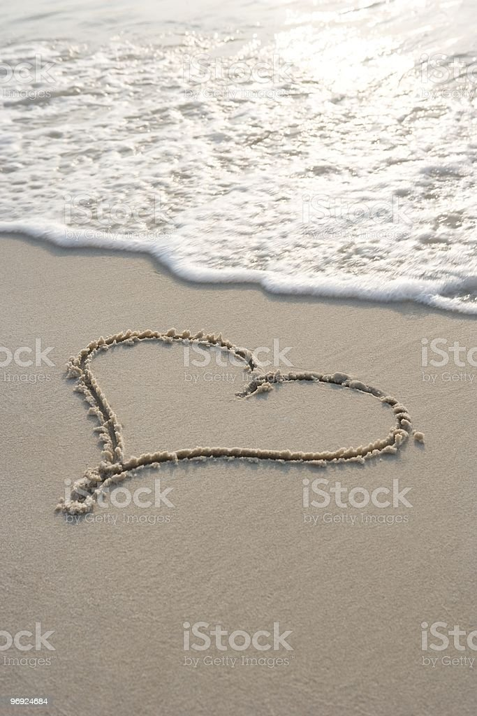 Heart at the beach royalty-free stock photo