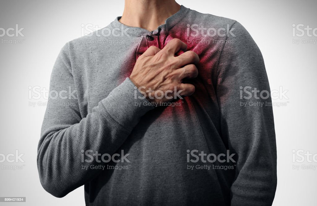 Heart Attack Pain stock photo