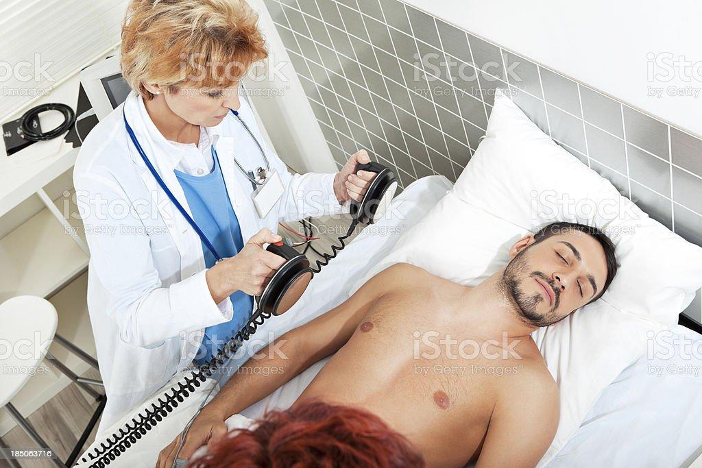 Heart attack stock photo