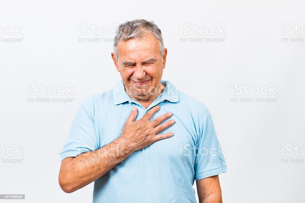 Ataque cardíaco sintomas - foto de acervo