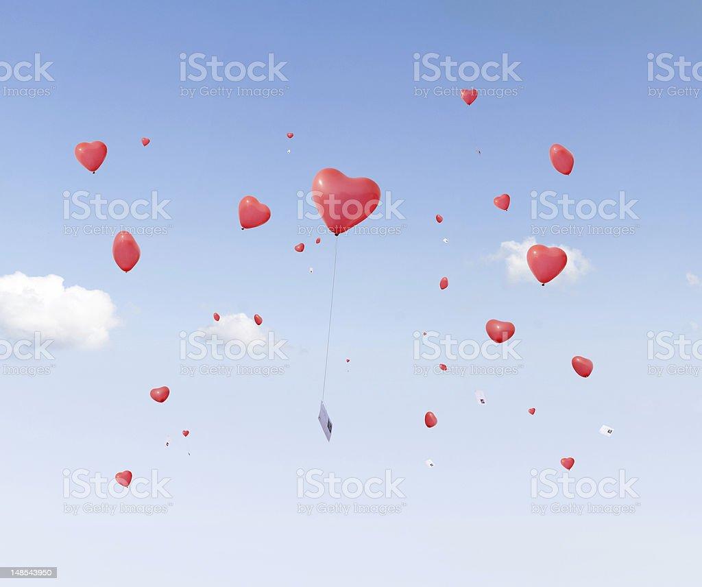 Heart Balloons royalty-free stock photo