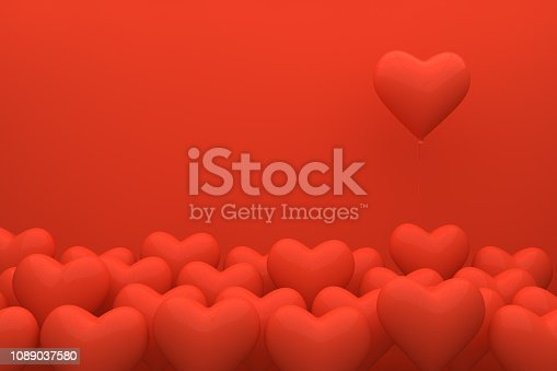 istock Heart Balloons, Valentine's Day Concept 1089037580