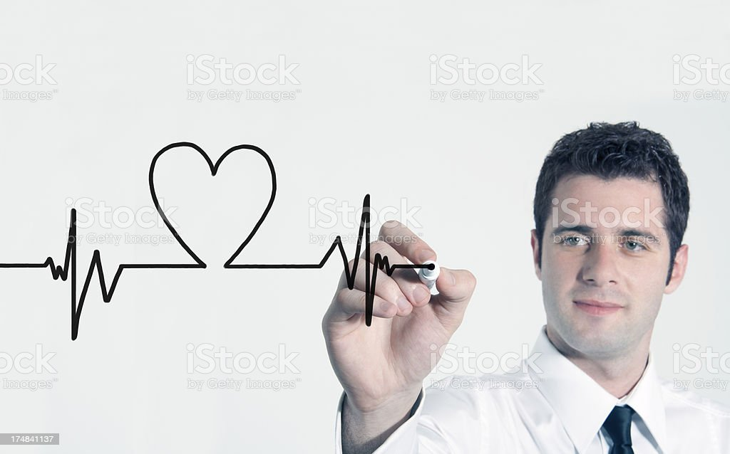 Heart beat graph royalty-free stock photo