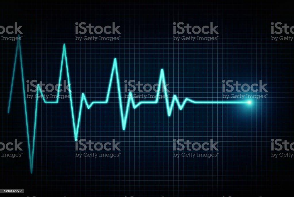 Heart beat line end of life stock photo