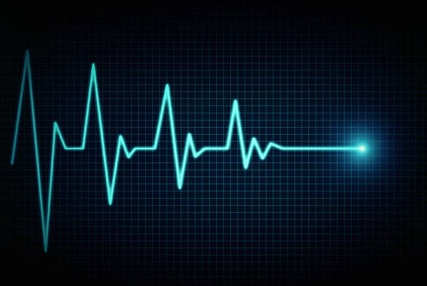 Heart beat line end of life Heart beat line end of life pulse trace stock pictures, royalty-free photos & images