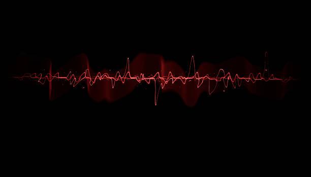 heart beat - 聲波 個照片及圖片檔