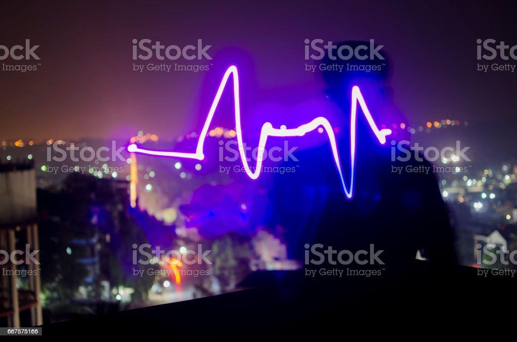 Heart beat pulse/lifeline stock photo