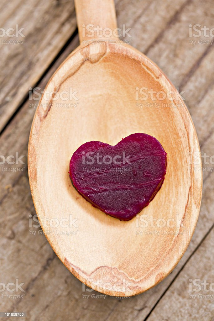 Heart Beet On A Spoon royalty-free stock photo