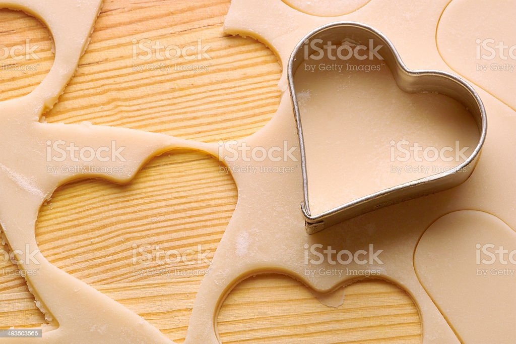 heart biscuits stock photo