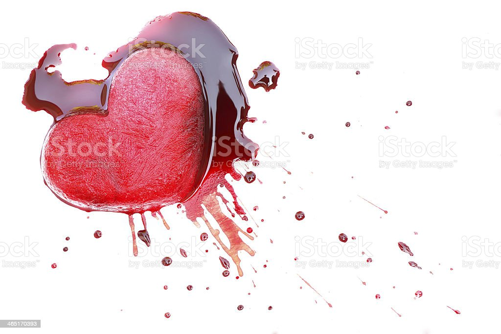 heart & blood royalty-free stock photo