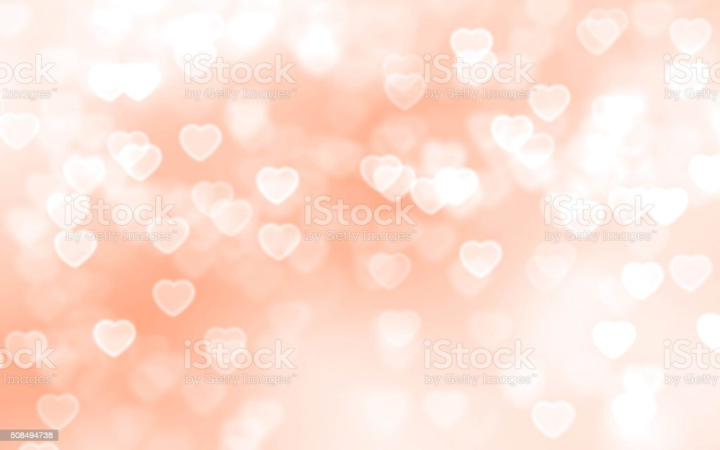 Heart bokeh background stock photo