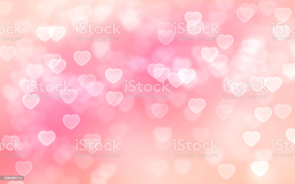 Heart bokeh background Pink color heart-shaped bokeh background Abstract Stock Photo