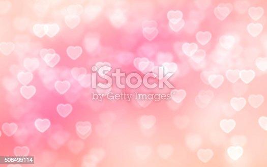 istock Heart bokeh background 508495114