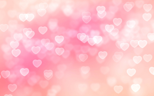 Heart Bokeh Background Stock Photo - Download Image Now