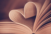 istock Heart book page - vintage effect style pictures 503130452