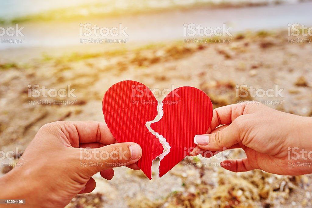 heart broken stock photo