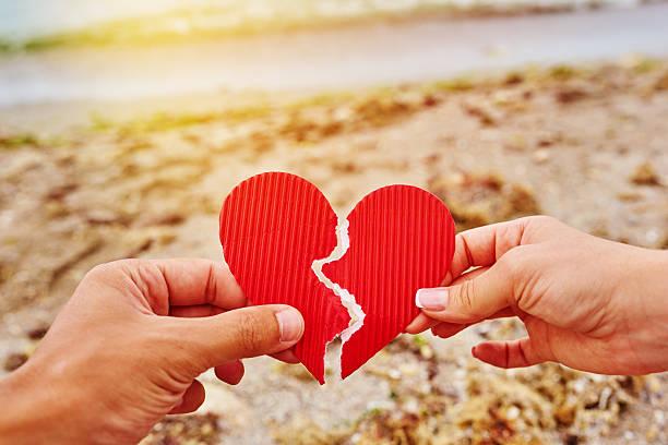 heart broken bildbanksfoto