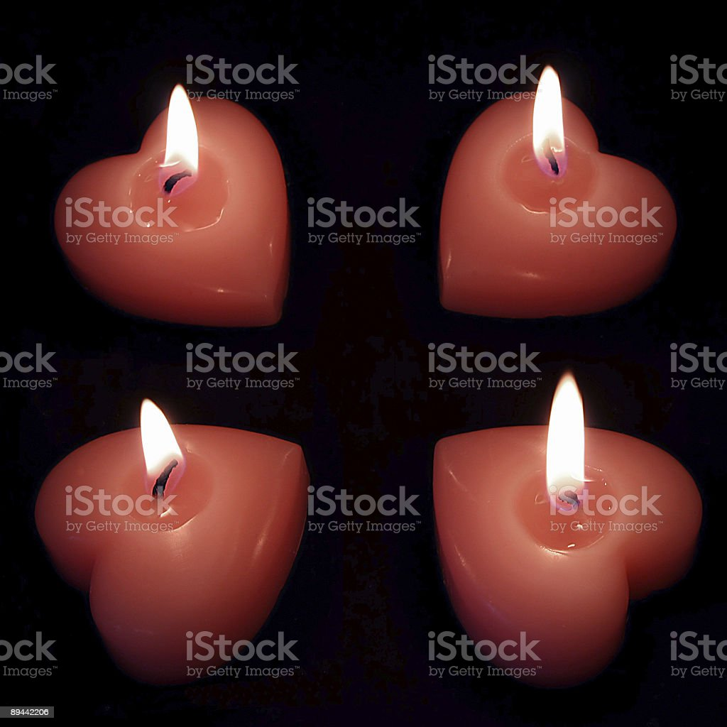 Heart candles royalty-free stock photo
