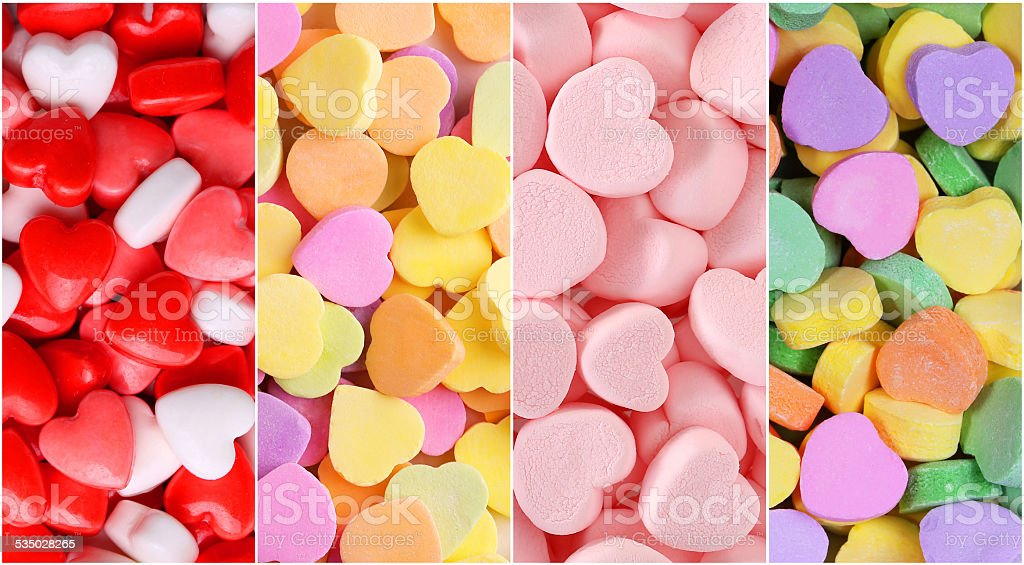 Heart Candy Background Collection stock photo