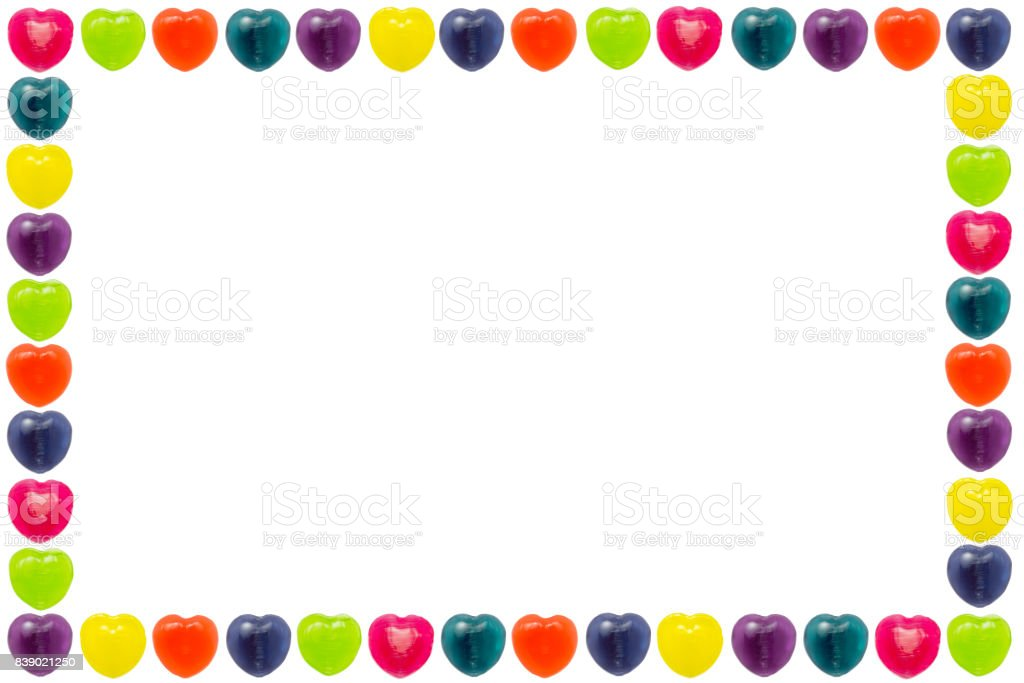 Heart Candy Border stock photo