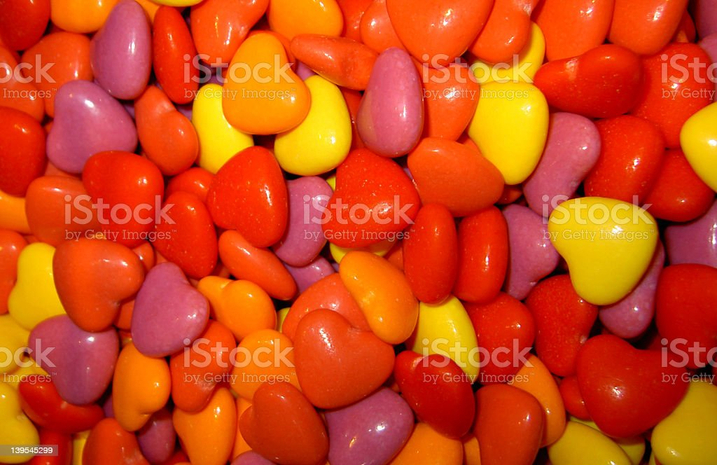 heart candy stock photo