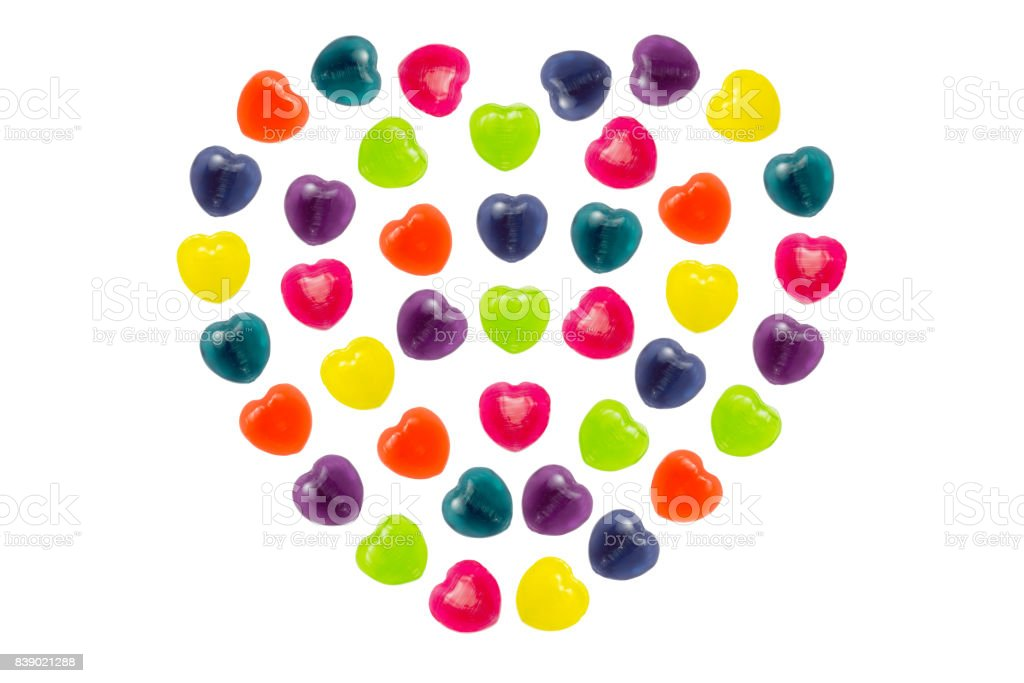 Heart Candy Set in Full Heart Shape for Valentine stock photo