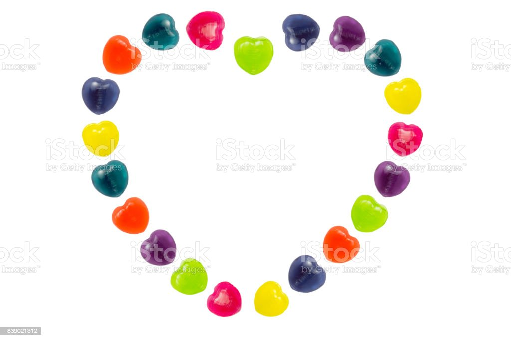 Heart Candy Set in Heart Shape for Valentine stock photo