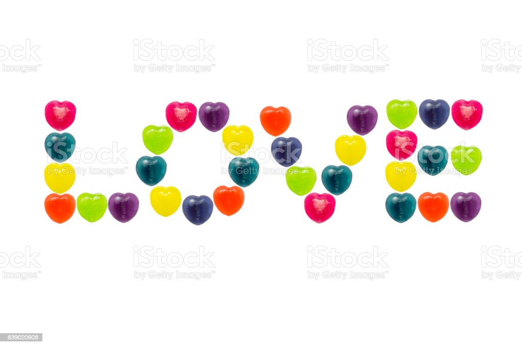 Heart Candy Set in Love Shape for Valentine stock photo