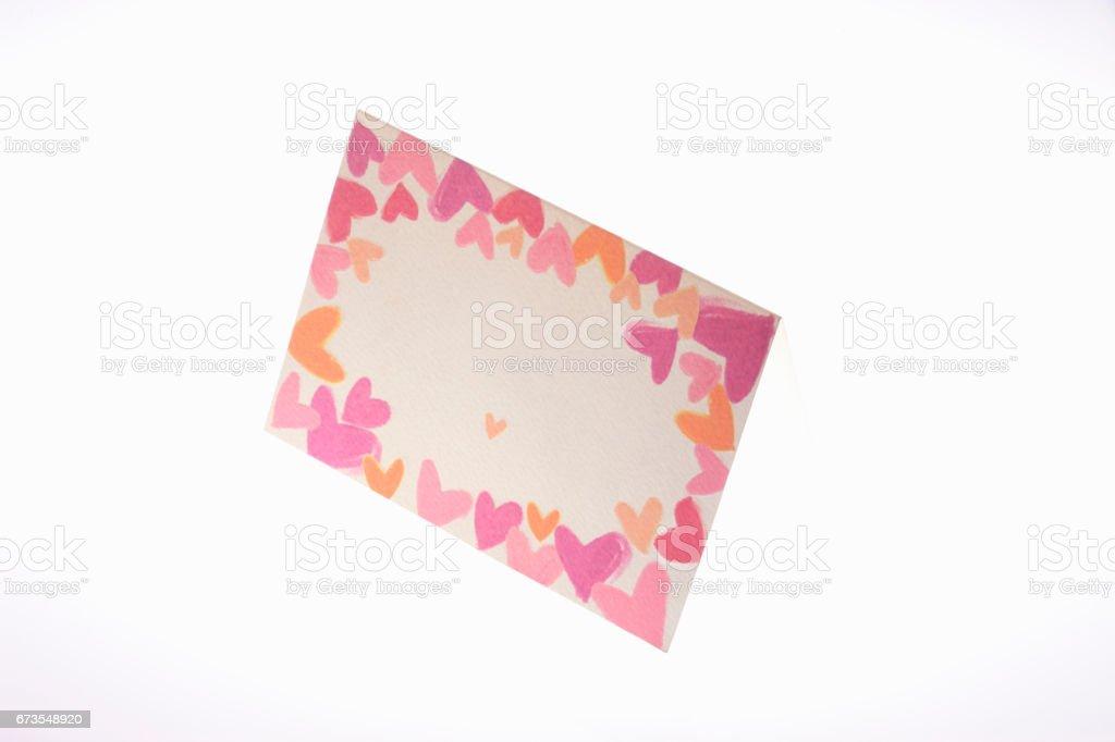 Heart card royalty-free stock photo
