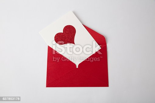 istock Heart cards on the white background. Valentines Day card. Isolated. 637853178