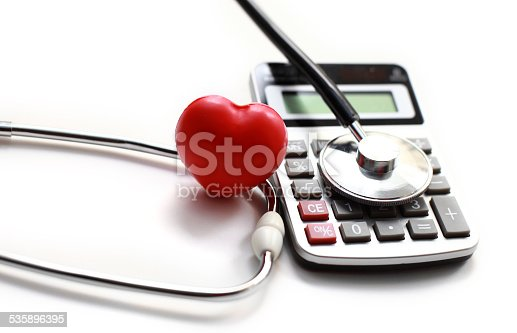 istock Heart Care and calculator 535896395