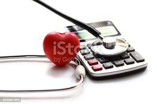 istock Heart Care and calculator 535897859