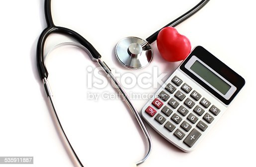 istock Heart Care and calculator 535911887