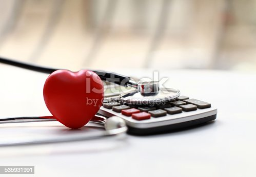 istock Heart Care and calculator 535931991
