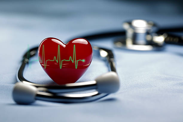 heart care and ecg - taking pulse stock photos and pictures
