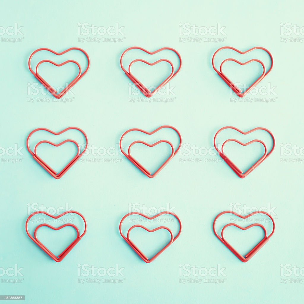 Heart Clips stock photo