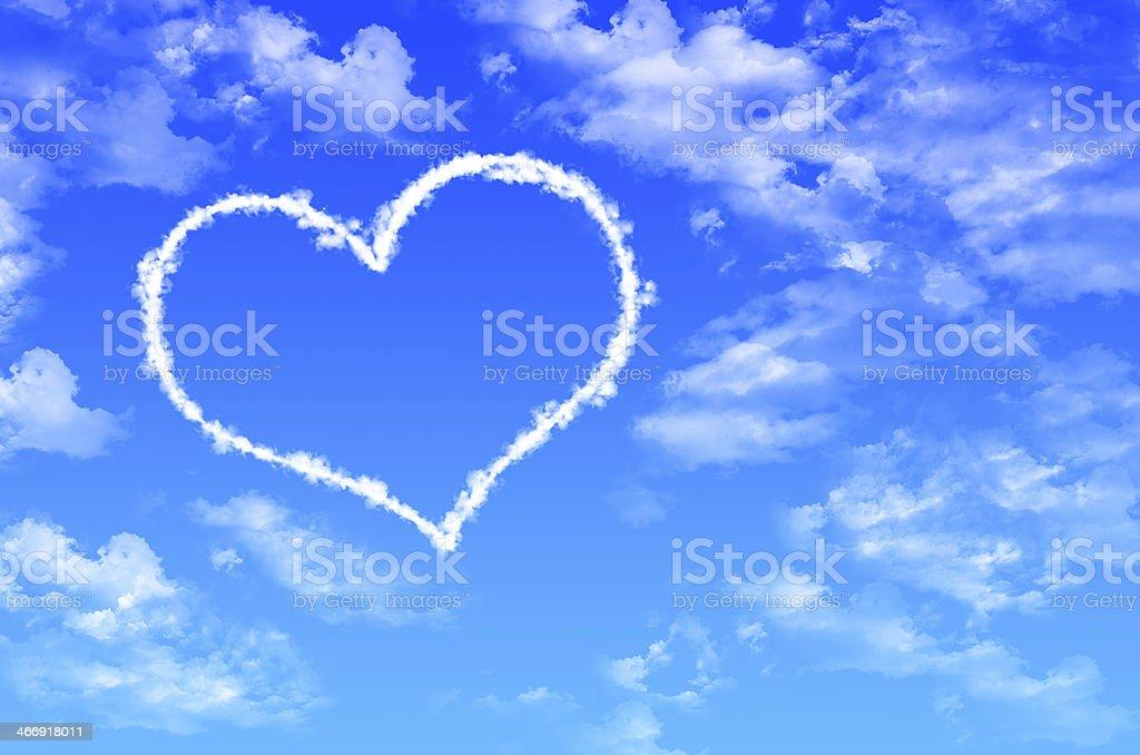 Heart Cloud royalty-free stock photo