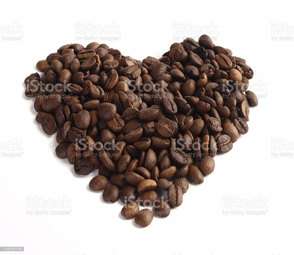 Heart coffee beans royalty-free stock photo