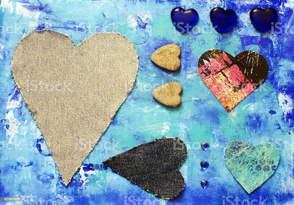 heart collage royalty-free stock photo