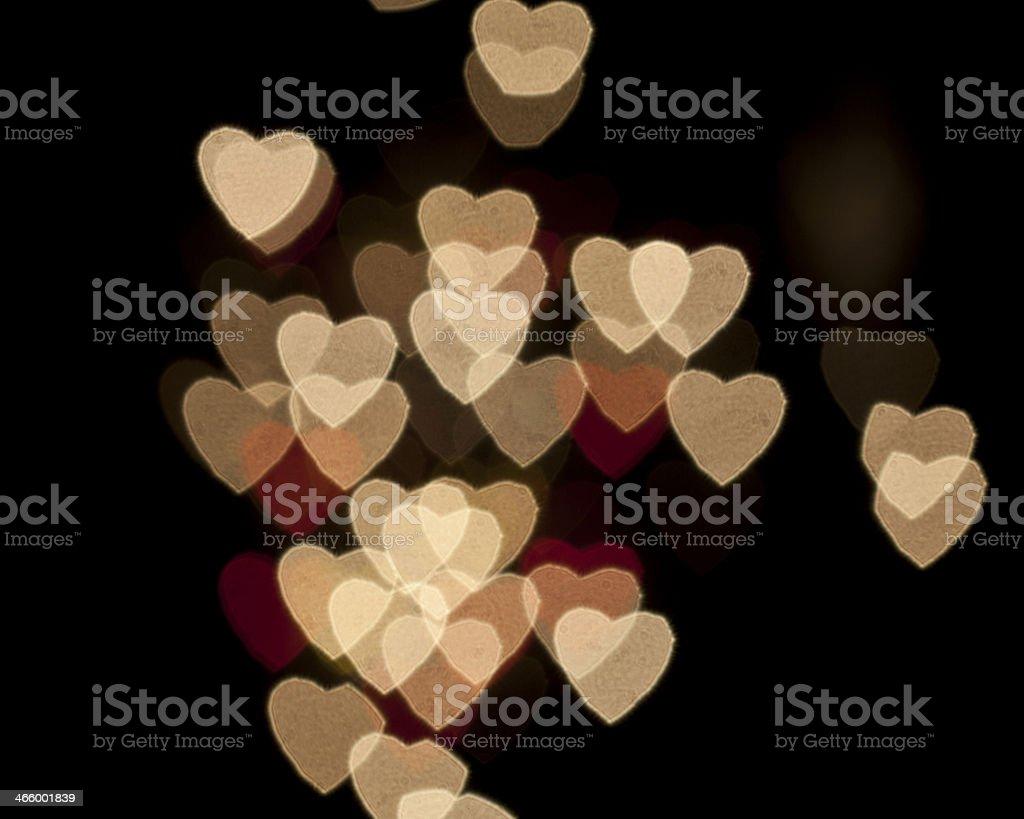 Heart Colorful Bokeh royalty-free stock photo