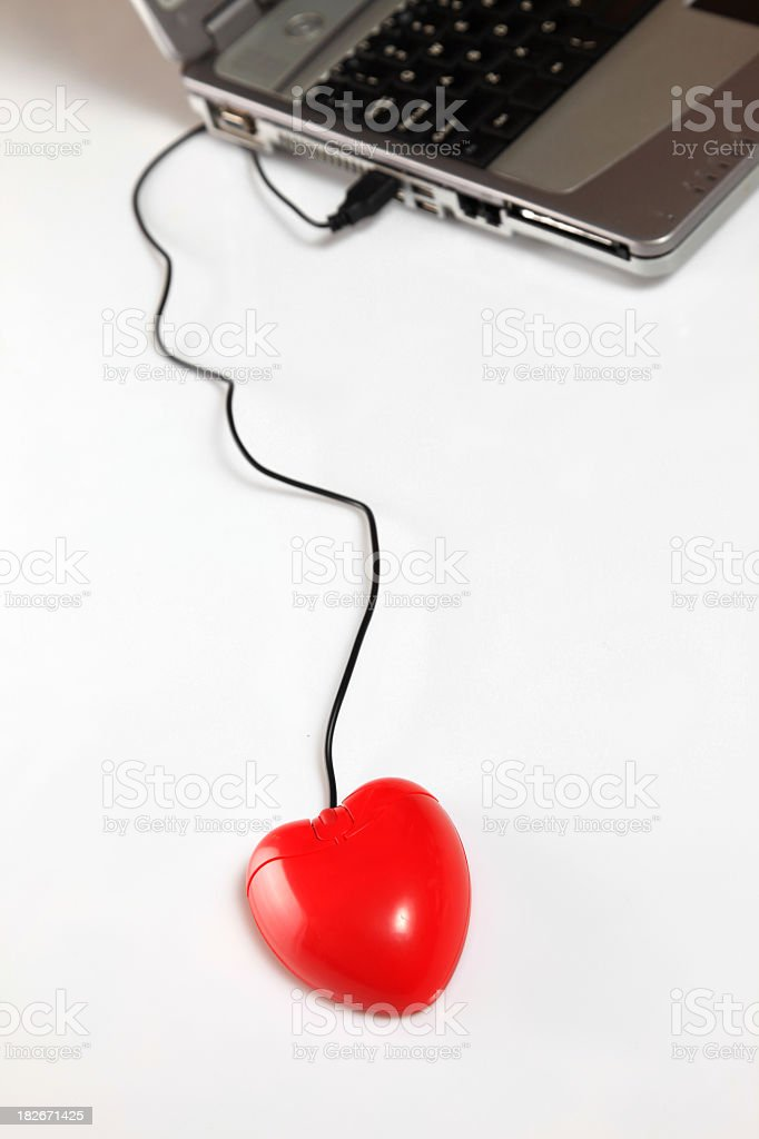 Heart connection royalty-free stock photo